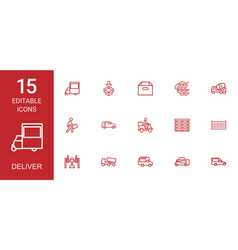 deliver icons vector image