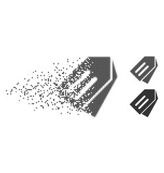 Dispersed pixel halftone tags icon vector