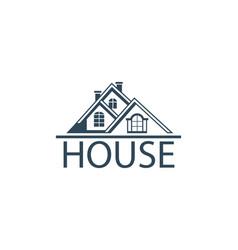 Emblem house vector