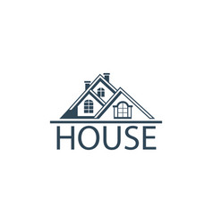 Emblem of house vector