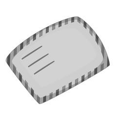 envelope icon monochrome vector image