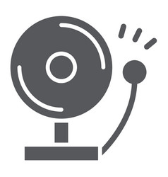 fire alarm glyph icon warning and emergency vector image