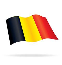 Flying flag of belgium vector