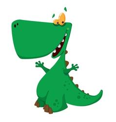 funny tirannosaur vector image