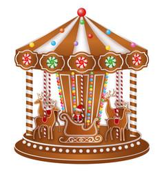 gingerbread carousel vector image