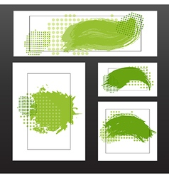 green blots vector image