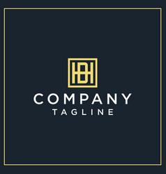 Hb or ba square logo vector