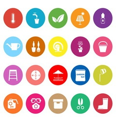 Home garden flat icons on white background vector