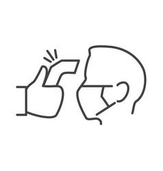 hospital fever sensor icon vector image
