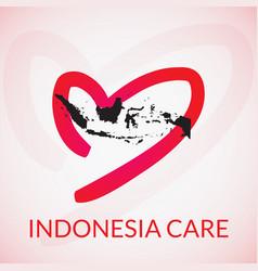 Indonesia care vector