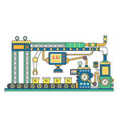 Industrial conveyor belt machine and manufacture vector