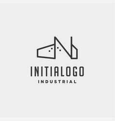 Initial letter n real estate logo design vector