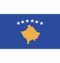 Kosovo flag image vector