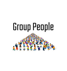 large group people in shape a grossing vector image