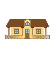 Light color silhouette of country house with vector