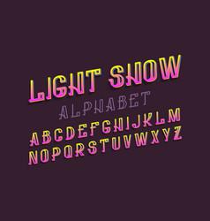 light show alphabet colorful letters festive vector image