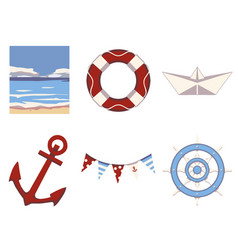 maritime mix vector image