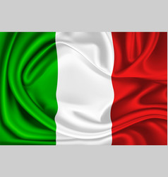 mexico italy flag realistic silk drape vector image