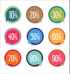 Modern offer sale tag isolated vector