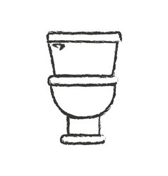monochrome blurred silhouette with toilet icon in vector image