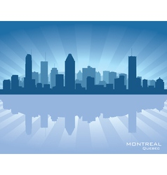 Montreal Canada skyline vector image