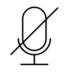 old microphone disabled thin line icon pictogram vector image