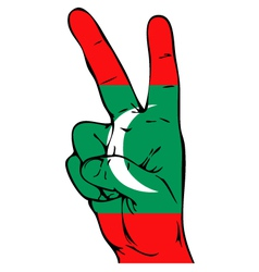 Peace Sign of the Maldivian flag vector image vector image