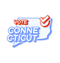 Presidential vote in connecticut usa 2020 state vector