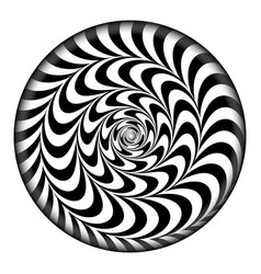 radial spiral psychedelic vector image