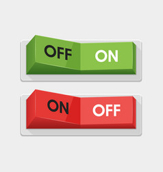 Realistic toggle switch white switches vector