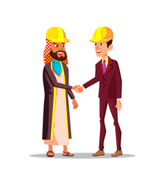 realtors and construction business arabian vector image