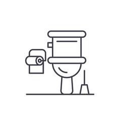 restroom line icon concept restroom linear vector image