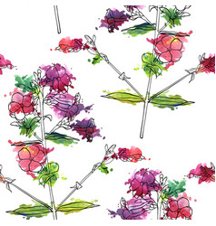 Seamless pattern with flower vector