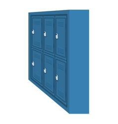Set lockers school with padlocks vector