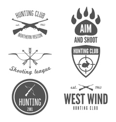 Set logo sticker badge emblem label print vector