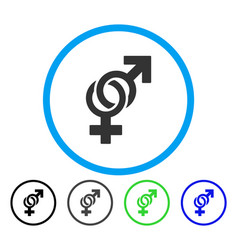 sexual symbols rounded icon vector image
