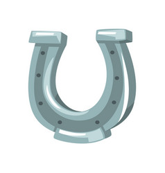 silver horseshoe symbol of the wild west vector image