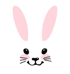 Simple blank for design head a cute bunny vector