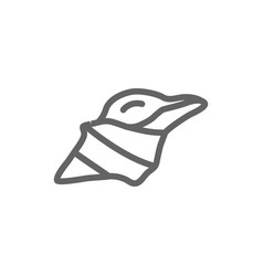 Simple conch line icon symbol and sign vector