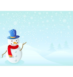snowman for christmas vector image vector image