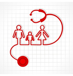 Stethoscope make family icon vector image vector image