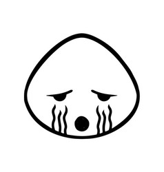 Thin line cry icon vector