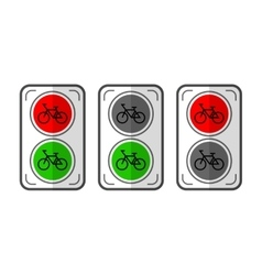 Traffic lights for cyclists Flat color object vector image