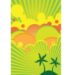 tropical lime and lemon vector image