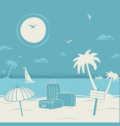 vacation theme and beach vector image