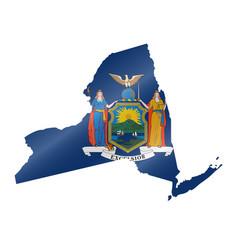 Waving flag map new york vector