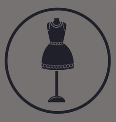 Women vintage dress on the mannequin logo vector