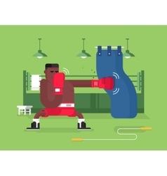 Boxer cartoon character vector image vector image