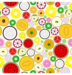 Bright fruit seamless background vector
