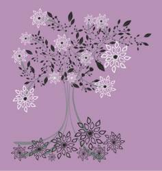 iced tree vector image vector image